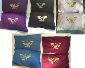 Legend of Zelda Triforce 2 Pillow cases Nintendo Wii U 3DS Twilight Princess Ocarina of Time Bedding