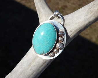Kingman Turquoise Sterling Silver Necklace