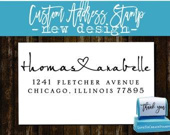 Custom ADDRESS STAMP / New Address Stamp / Home Address Stamp / Personalized Address Self Inking stamp / RSVP address stamp (9013R)