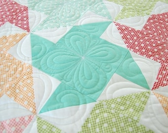 PATTERN BABY LOVE Quilt or Table Topper Churn Dash    We combine shipping