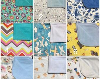 Cotton Top/Anti-Pill Fleece Backing Blankets