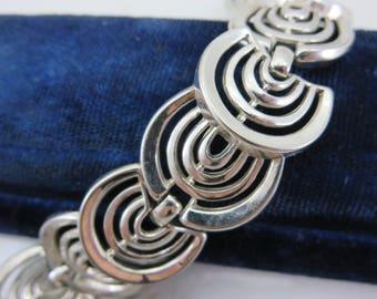 Trifari Bracelet - Silver Tone 1960s Costume Jewelry