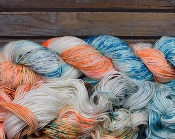 "Sock Yarn - ""3D Vision"" - Merino / Nylon - Hand Dyed -  100g"