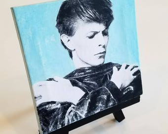 4x4 Mini Acrylic on Canvas Painting - David Bowie