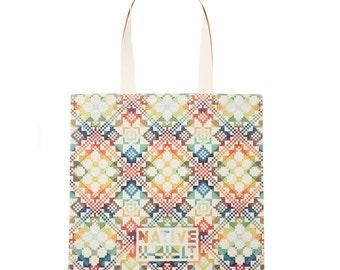 Tote bag - Shopping bag - Blue shopping tote - Linen tote bag - Martket bag - Red tote bag - Orange tote bag - Canvas tote bag