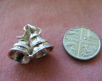 B) Vintage Sterling Silver Charm Wedding bells