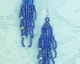 D - Earrings Chandelier Seed Beads Freshwater Pearls