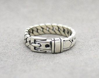 Belt Ring / Oxidized Silver Belt Ring/ Silver Belt ring / Bridesmaid ring /Bridesmaid gift /Wedding Ring