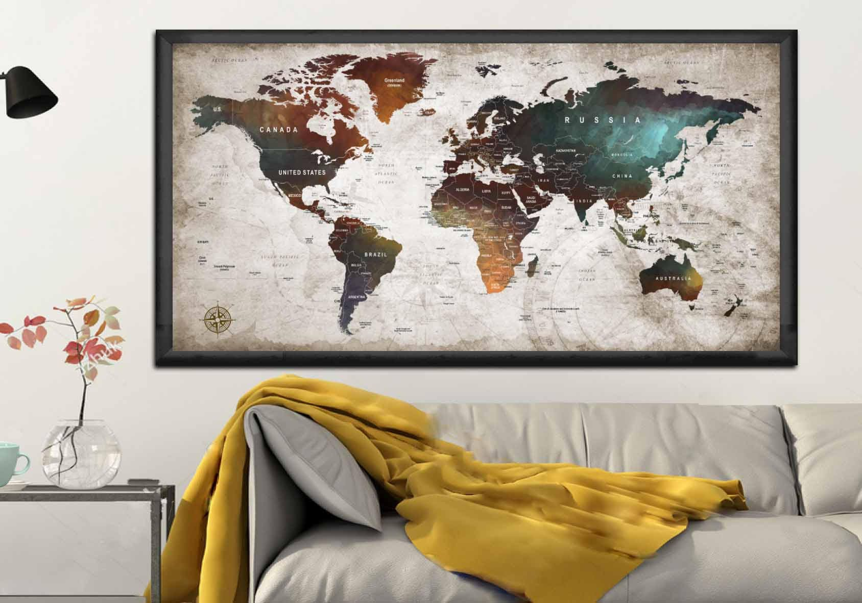 World map posterworld map decalworld map canvas panelworld map world map posterworld map decalworld map canvas panelworld map printworld map artworld map wall artpush pin map postertravel map art gumiabroncs Images