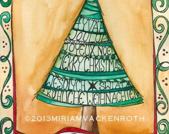 Postcard - Christmas tree