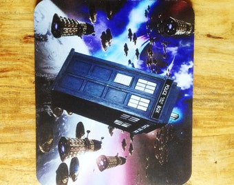 Dr Who Tardis and Dalek  Mousepad