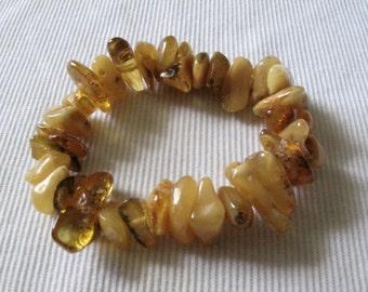 Vintage Natural Tumbled Amber Bracelet