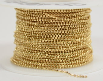 1mm Ball Chain - Gold Plated - CH131 - Choose Your Length