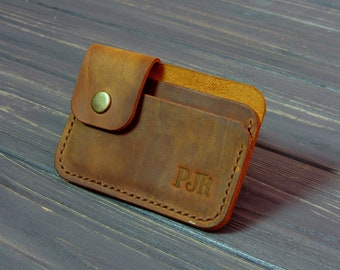 card holder personalized gift wallet for men leather card holder gift for men gift for her cardholder leather  Personalized free