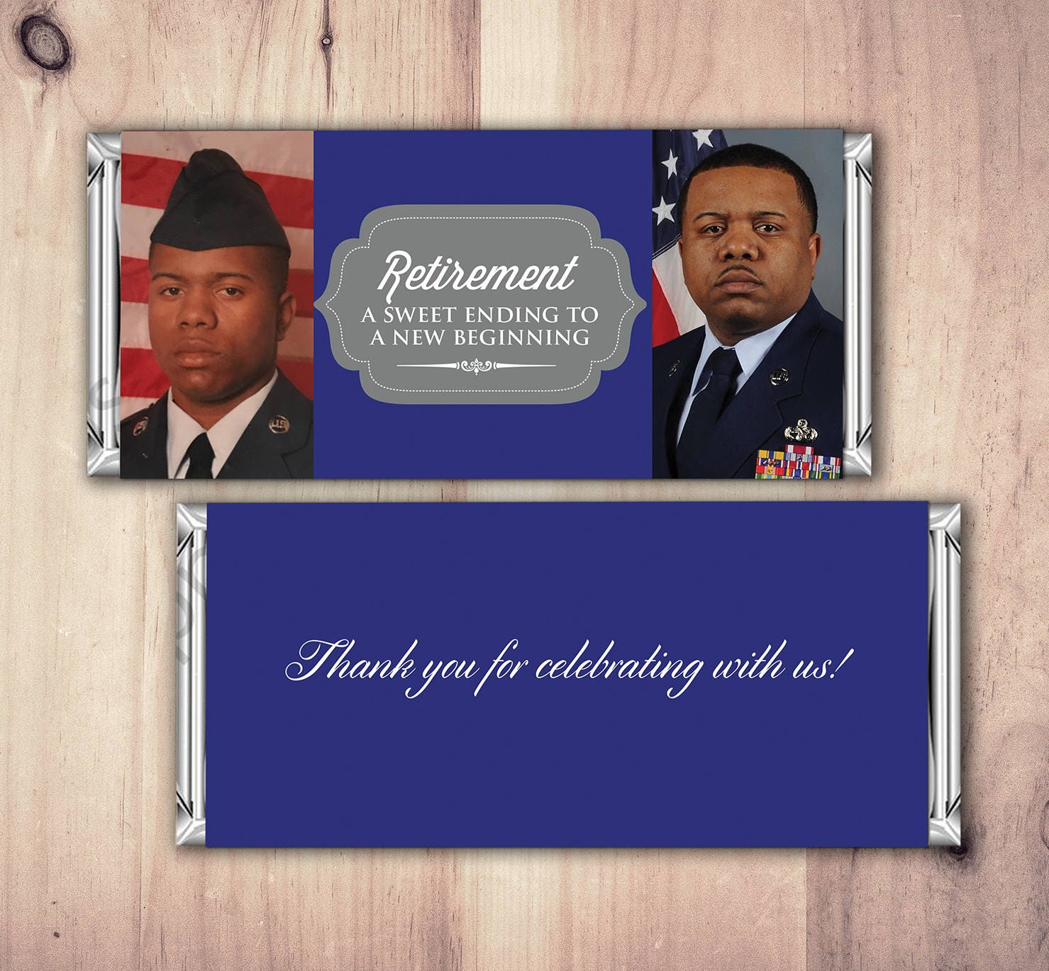 Military Retirement Candy Bar Wrapper, Candy Bar, retirement party ...
