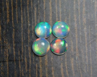 4mm 4 Pcs AAA++ quality  Natural ETHIOPIAN OPAL Round cabochon gemstones 758
