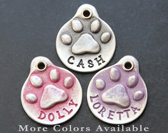 Pet ID Tag Custom Pet Tag Personalized Dog Tag Pet Tag Dog ID Tag Pet Tag Puppy Tag Pink Dog Tag Pet Tag