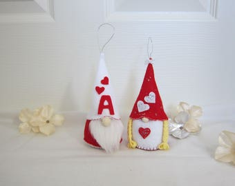 Gnome, Couple Red Gnomes, Gnome Ornament, Nordic Gnomes, Valentine Gnomes, Scandinavian Gnomes, Christmas Gnome, Girl Gnomes, Boy Gnomes