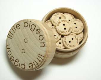 Custom Wooden Gift Box Set With Buttons
