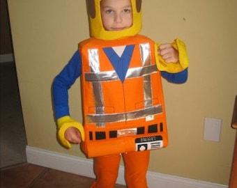 Lego Emmet inspired costume .  sc 1 st  Etsy & Lego Golden ninja LLoyd inspired costume.