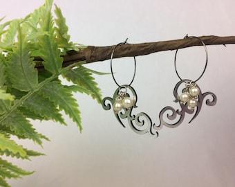 Silver Ornament Earrings