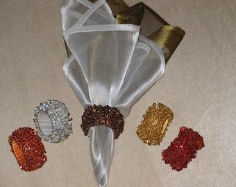 Beaded Napkin rings- set of 6