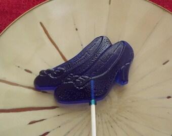10 High Heel Glass Slipper Shoe Ruby Wizard Lollipops Sucker Party Favor