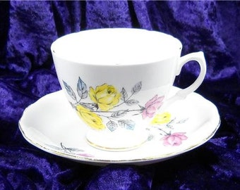 Vintage Royal Imperial Finest Bone China Cup and Saucer Made In England