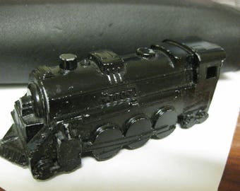 Vintage MIDGETOY Rockford ILL USA Pat 2775847 Black Train Engine Diecast Metal