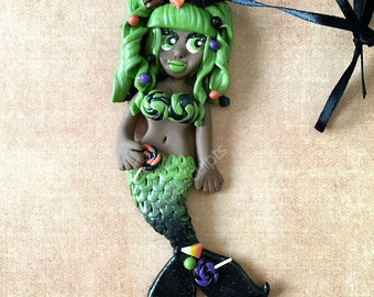 Green Halloween Mermaid