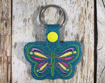 Butterfly Keychain, Butterfly, Butterfly Keyfob, Bookbag Charm, Zipper Pull, Butterfly Party, Friend Gift, Mother's Day Gift, Gift, Birthday