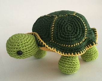 Amigurumi Turtle Pattern : Green the turtle amigurumi stuffie toy crochet pattern mini