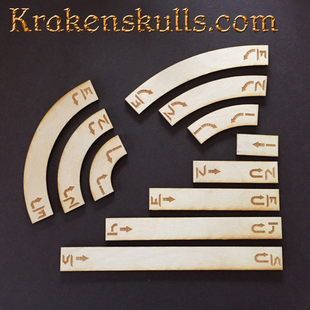 x wing wooden movement templates