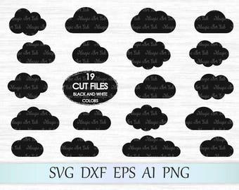 Cloud svg file, Cloud clipart, Cloud vector, Cloud bundle Svg, Cloud clip art, Cloud cricut, Clouds silhouette, Cloud cut file, Digital file