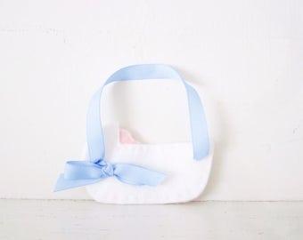 CRADLE - Blue Baby Cradle ORNAMENT - Baby Keepsake - Baby's First Christmas Ornament - Baby Boy Nursery Decor - Blue Baby Shower Decoration