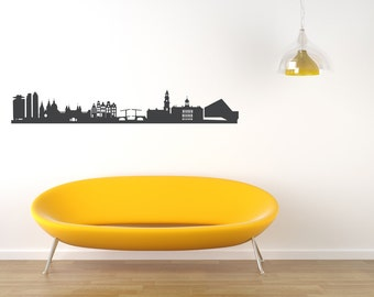 AMSTERDAM Wall Decal in  grey, Skyline Sticker, Interior Design, vinyl, foil, living, car, furniture, dining, home, decor, made by 44spaces