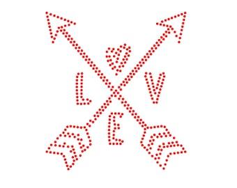 Digi-tizers Love Arrows rhinestone pattern (SVG Studio V3 JPG)