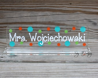 Personalized Teacher Nameplate - Great Teacher Gift - Desk Name Plate