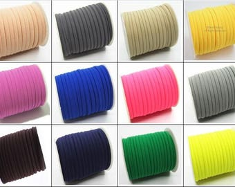 29 Colors Elastic lycra cord Stitched round lycra cord Lycra strip