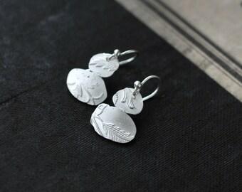 Asymmetric Twin II Keepsake Silver earrings