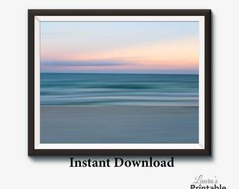 Ocean Print, Ocean Art, Abstract Ocean Print, Coastal Print, Coastal Art, Motion Blur Photography, Printable Photography, Printable BOGO