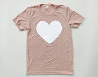 PEACH HEART - Tri-blend T-Shirt- UNISEX
