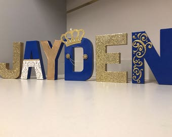 Royal Prince Themed Name Decor