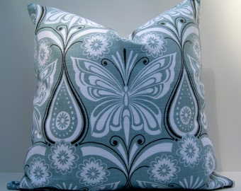 18x18 Pillow cover. Waverly Ipanema slub Flint Pillow cover. Throw pillow