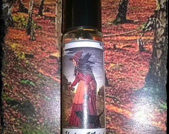 Hedge Witch pagan perfume oil, rich earthy and mysterious perfume oil 10ml roll on, wild woman, essential oils, resins & absolutes