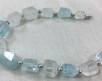 1 Strand High Quality Aquamarine Jemmy Beads @USA012