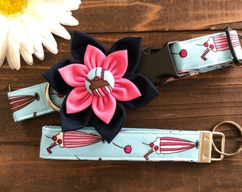 Dog collar, milkshake dog collar, happy birthday dog collar, birthday dog collar, dessert collar, picnic dog collar, dog collar with flower