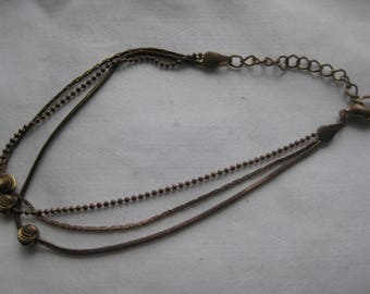 Vintage multi chain beaded  Anklet