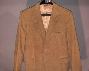 Tan Wide Wale Corduroy Sportcoat - 44 R
