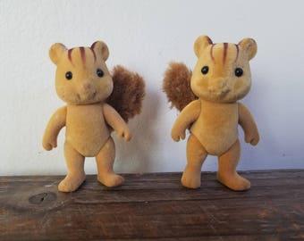 Vintage Epoch Calico Critters Squirrels 1985